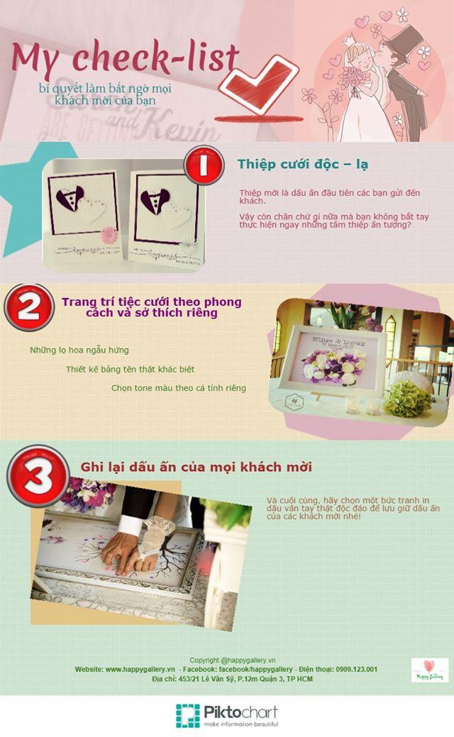 Check list cho ngày cưới của bạn